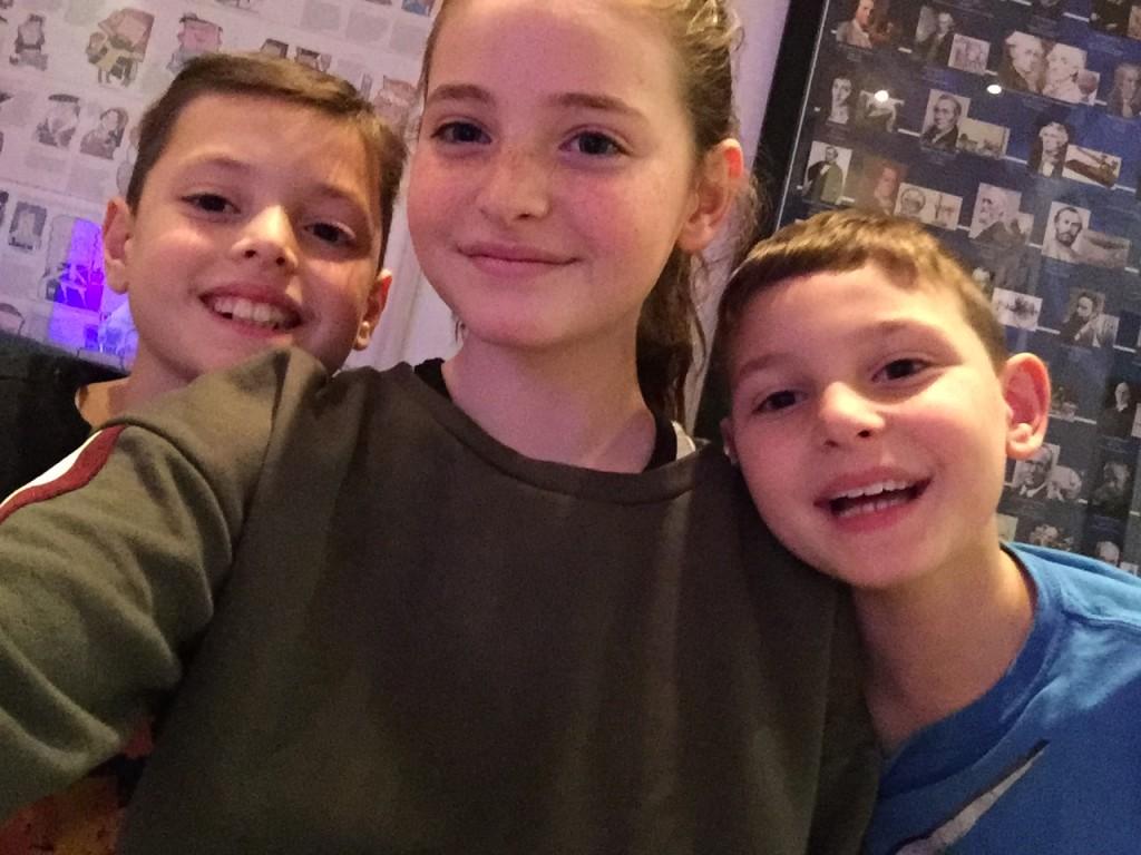 Estie Gordon with twins Saul & Isaac