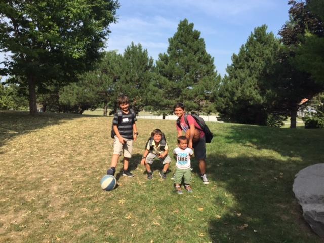 The Berkowitz boys in summer
